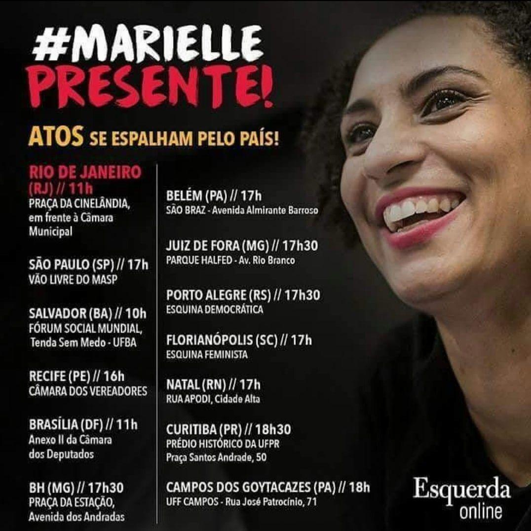 """O assassinato de Marielle e sua """"leitura"""" pela """"imprensa"""""""