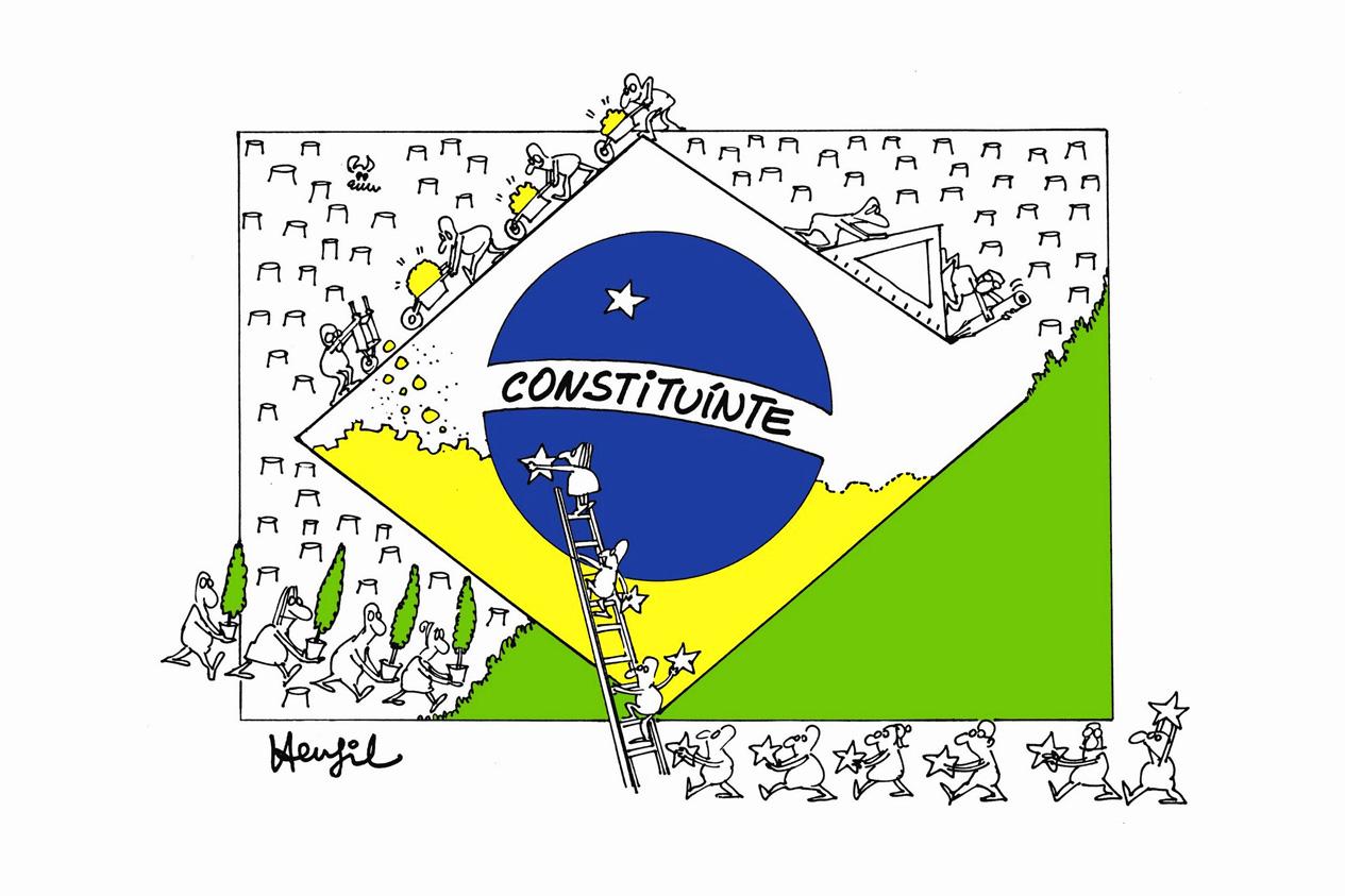 REVOGAR O ENTULHO AUTORITÁRIO E COLOCAR NA ORDEM DO DIA A CONVOCAÇÃO DE UMA ASSEMBLEIA NACIONAL CONSTITUINTE