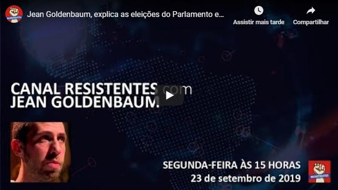 VÍDEO: Jean Goldenbaum fala ao Canal Resistentes sobre as eleições de Israel e a possível queda de Netanyahu