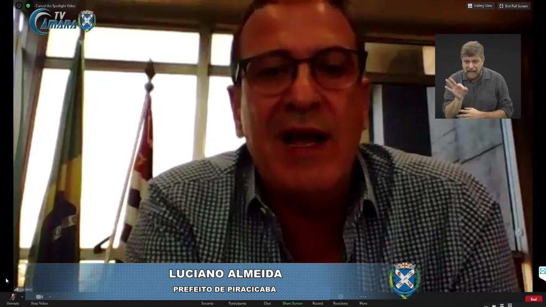 """Covid-19 em Piracicaba: """"Para nós está sendo assustador"""", afirma prefeito Luciano Almeida"""