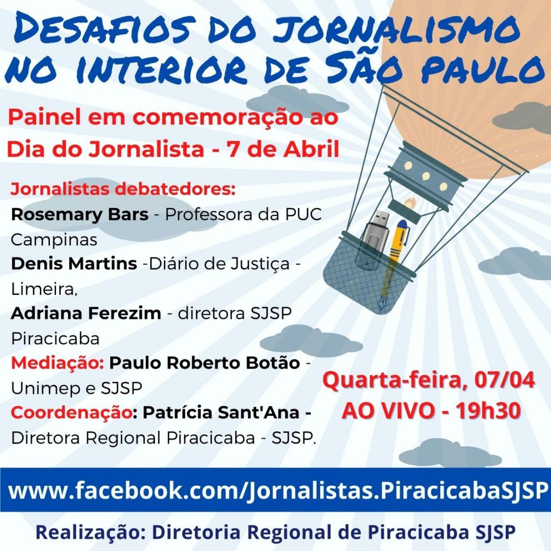 Regional de Piracicaba promove painel sobre desafios do jornalismo no interior