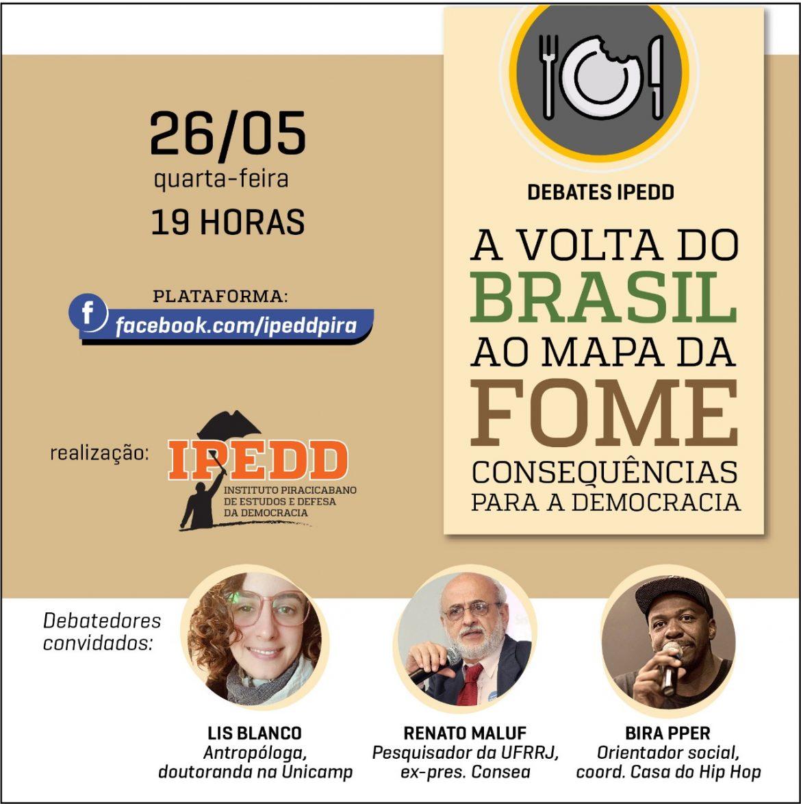 Ipedd promove debate sobre fome e democracia no Brasil