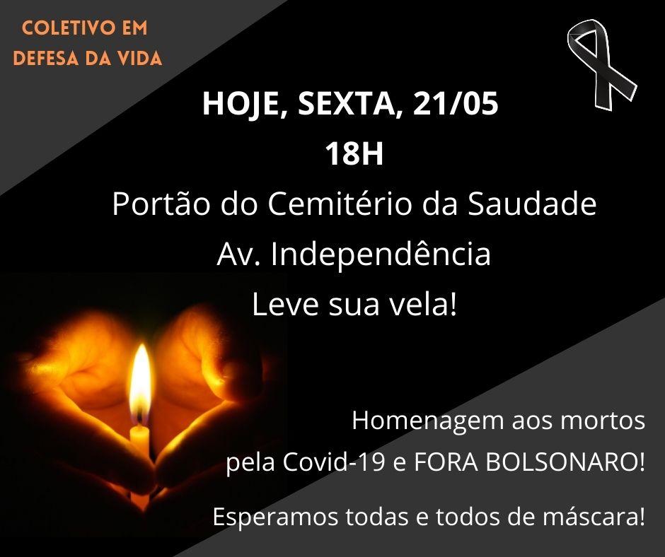 Em frente ao Cemitério da Saudade, ato homenageará nesta sexta as vítimas da Covid em Piracicaba.